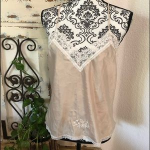 Christian Dior creamy camisole with lace detail